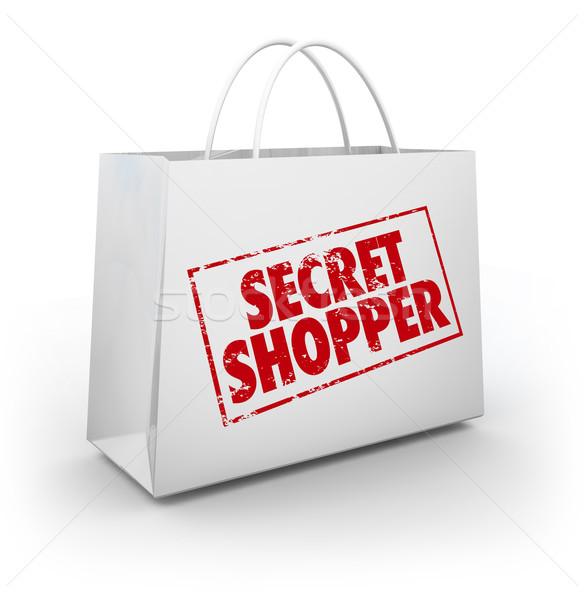 Segreto mistero shopping bag store valutazione Foto d'archivio © iqoncept