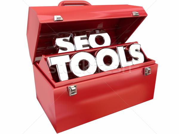 Seo tools zoekmachine website verkeer Stockfoto © iqoncept