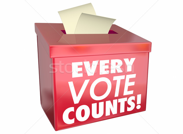 Every Vote Counts Matters Ballot Box 3d Illustration Stock photo © iqoncept