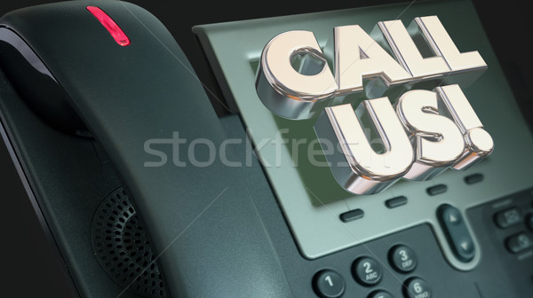Call Us Telephone CTA Order Now Words Illustration Stock photo © iqoncept