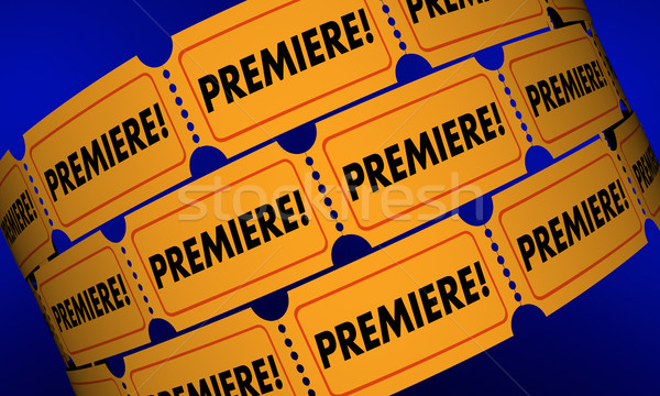 Premiere Tickets New Movie Product Launch Announcement 3d Illust Stock photo © iqoncept