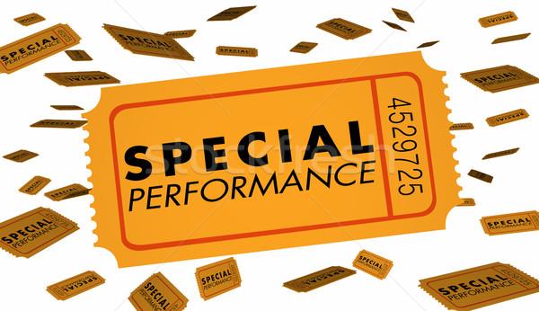 Special Performance Concert Theatre Play Recital Ticket 3d Illus Stock photo © iqoncept