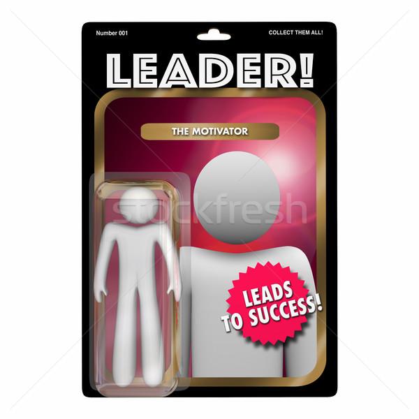 Leader Motivator Coach Manager Action Figure 3d Illustration Stock photo © iqoncept