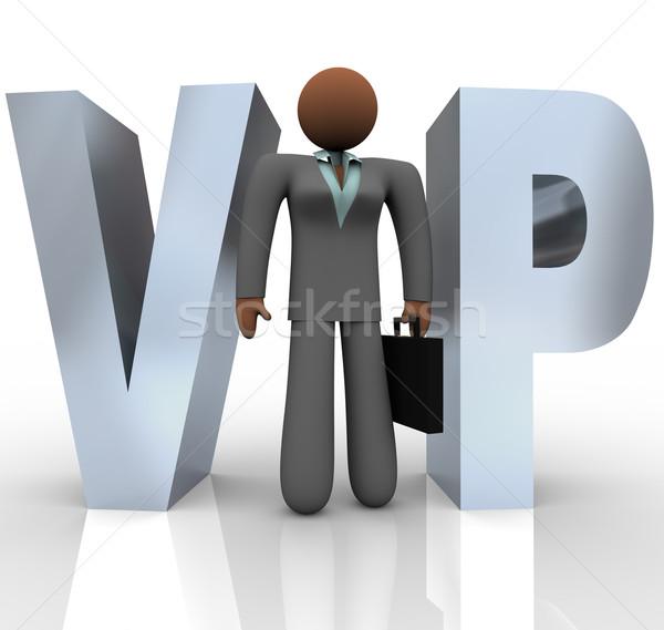 Vip üzletasszony szó betűszó áll i betű Stock fotó © iqoncept