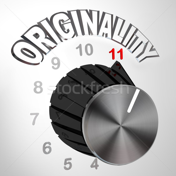 Originality Dial Knob Turned to Max - Innovative Invention Stock photo © iqoncept