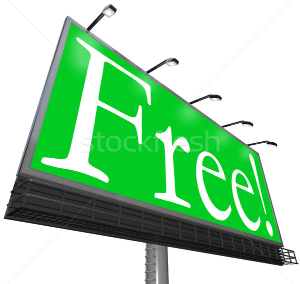 Free Word Outdoor Advertising Billboard Complimentary No-Cost Stock photo © iqoncept
