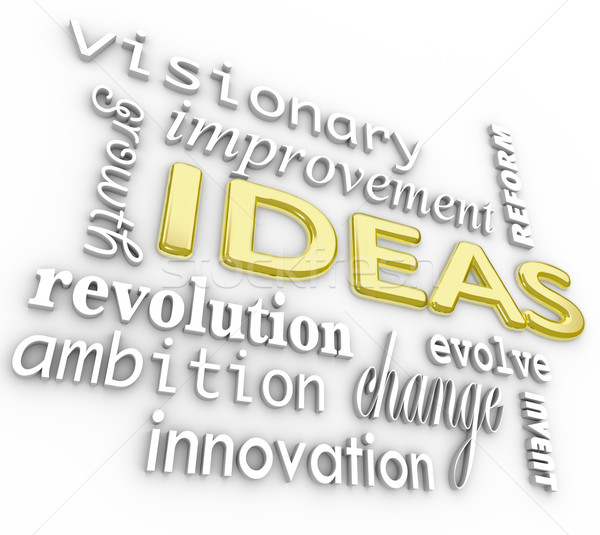 Ideas Word Background - Innovation Vision 3D Words Stock photo © iqoncept