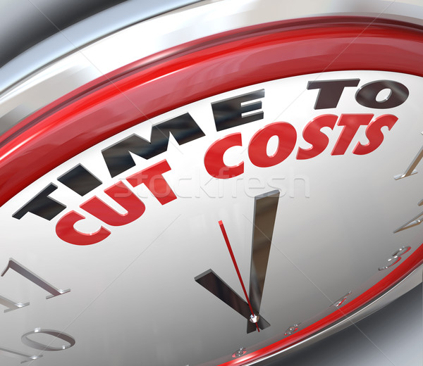 Time to Cut Costs Reduce Spending Lower Budget  Stock photo © iqoncept