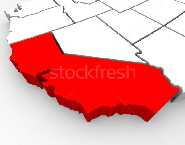 California Sate Map - 3d Illustration Stock photo © iqoncept