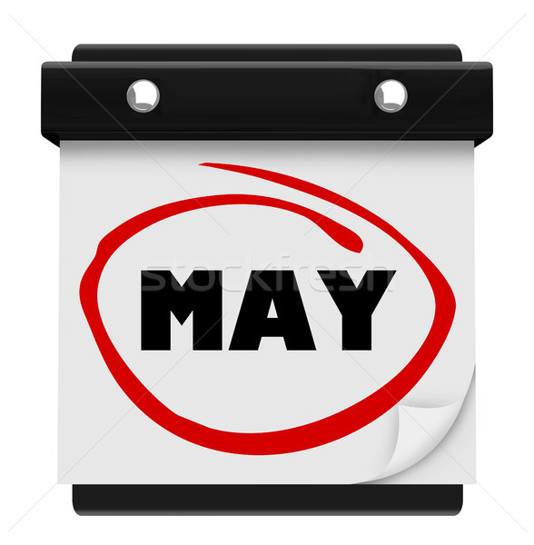 May Month Word Wall Calendar Remember Schedule Stock photo © iqoncept
