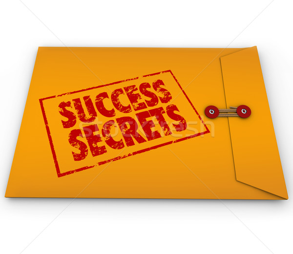 Success Secrets Winning Information Classified Envelope Stock photo © iqoncept