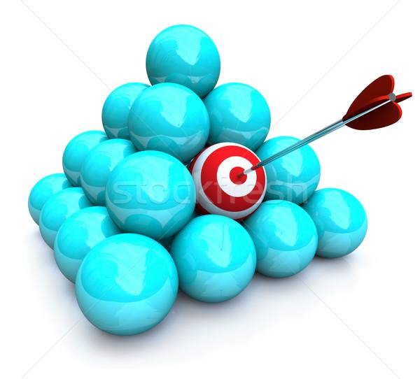 Hitting the Target - Marketing Pyramid Stock photo © iqoncept