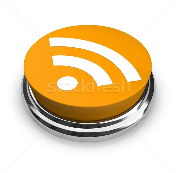 Rss シンボル オレンジ ボタン 緑 リサイクル ストックフォト © iqoncept