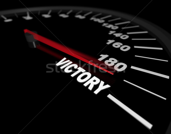 Speeding Toward Victory - Speedometer Stock photo © iqoncept