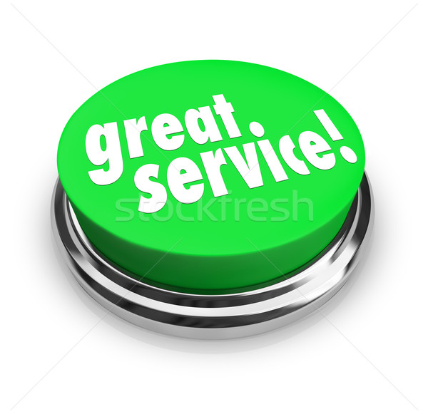 Great Service Feedback Response Review Button Stock photo © iqoncept