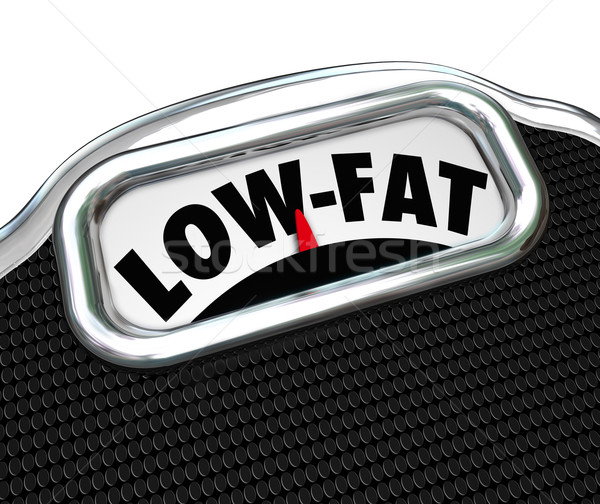 Low-Fat Words Scale Nutritional Food Choice Snacks Stock photo © iqoncept