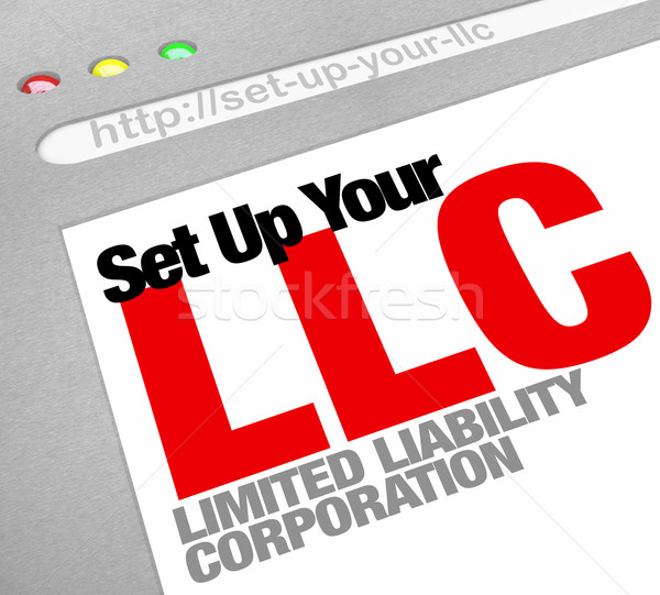 Set Up Your LLC Limited Liability Corporation Website Online Hel Stock photo © iqoncept