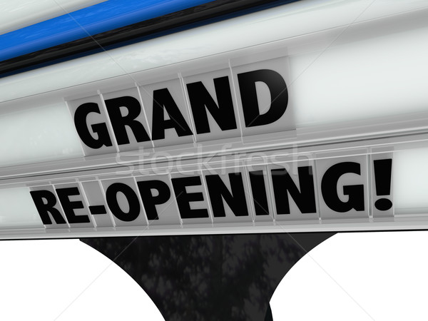 Grand Re-Opening Business New Look Refresh Remodel Stock photo © iqoncept