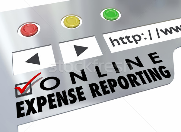 Online Expense Reporting Website Online Receipt Entry Stock photo © iqoncept