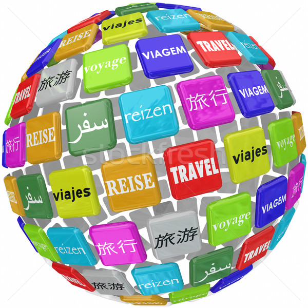 Travel Word Translation Different Global Languages Culture World Stock photo © iqoncept