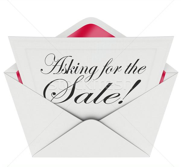 Vendita busta lettera messaggio vendite Foto d'archivio © iqoncept