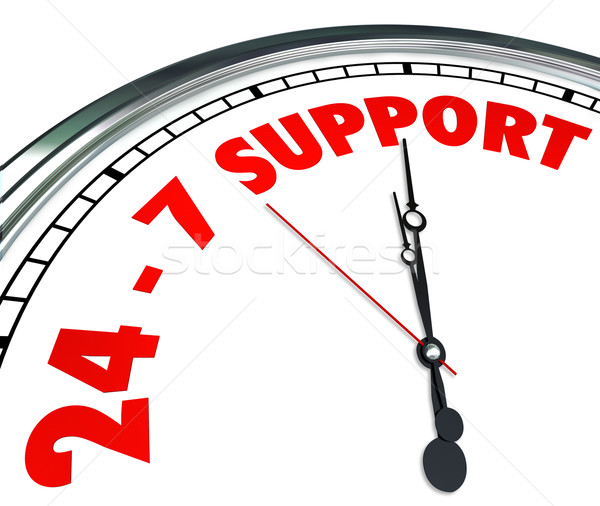 24 7 Support Words Numbers Clock Customer Service Always Open Stock photo © iqoncept