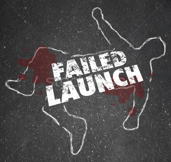 Failed Launch Unsuccessful New Business Startup Chalk Outline De Stock photo © iqoncept