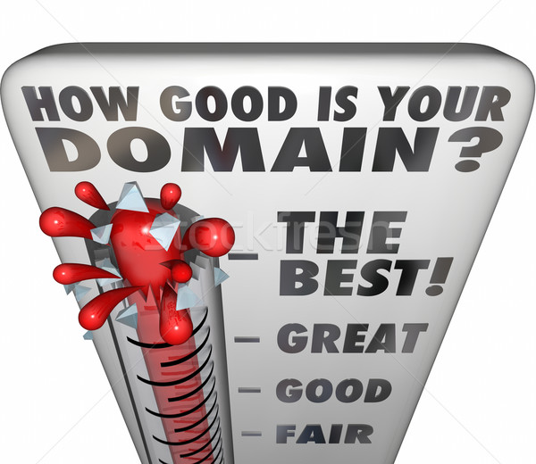 How Good Is Your Domain Thermometer Rating Website Name Stock photo © iqoncept