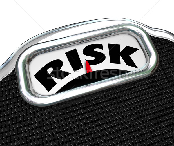 Risk Word Scale Overweight Obesity Disease Factors Stock photo © iqoncept