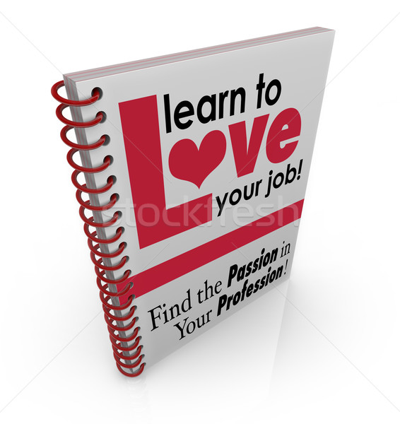 Learn to Love Your Job Book Cover Work Career Appreciation Satis Stock photo © iqoncept