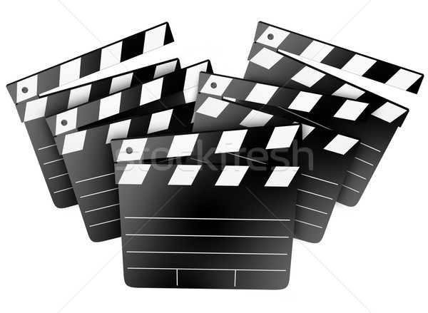 Movie Film Studio Clapper Boards Cinema Director Producer Stock photo © iqoncept