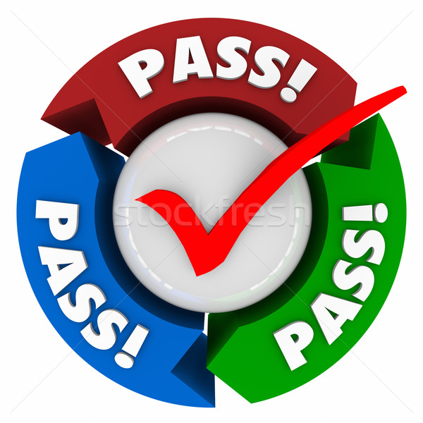 Pass Word Arrows Check Mark Approved Test Result Stock photo © iqoncept