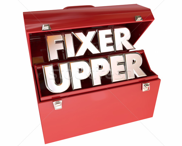 Fixer Upper House Home Repair Construction Project Stock photo © iqoncept