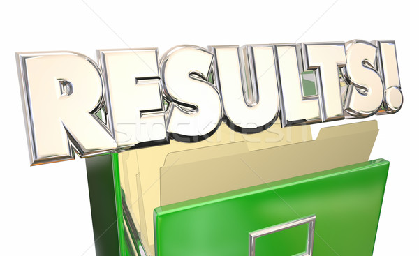 Results Output Test Evaluation Answers Report File Cabinet 3d Wo Stock photo © iqoncept