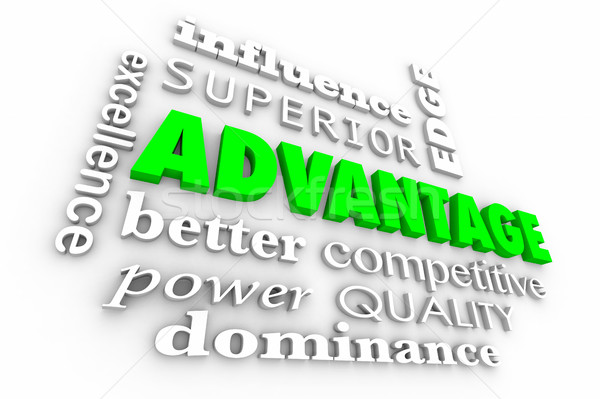 Advantage Competitive Edge Best Words Collage 3d Illustration Stock photo © iqoncept