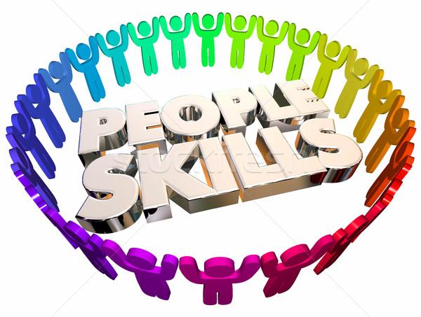 People Skills Communication Listening Words 3d Illustration Stock photo © iqoncept