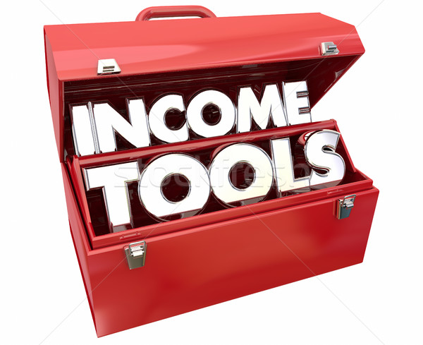 Income Tools Earn More Money Toolbox 3d Illustration Stock photo © iqoncept