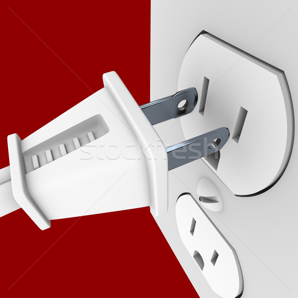 Power Plug and Outlet Stock photo © iqoncept
