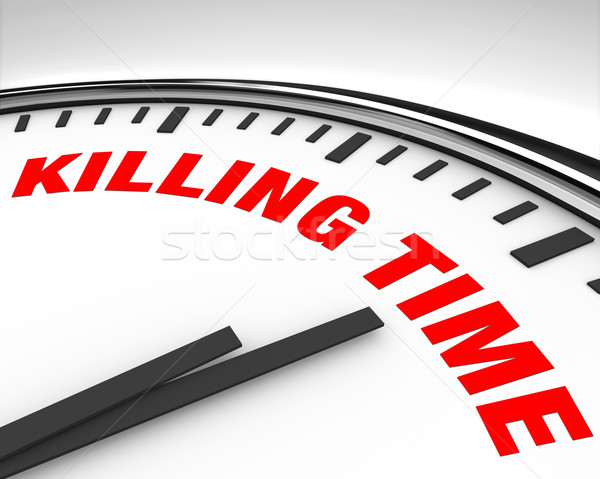 Killing Time - Clock Stock photo © iqoncept