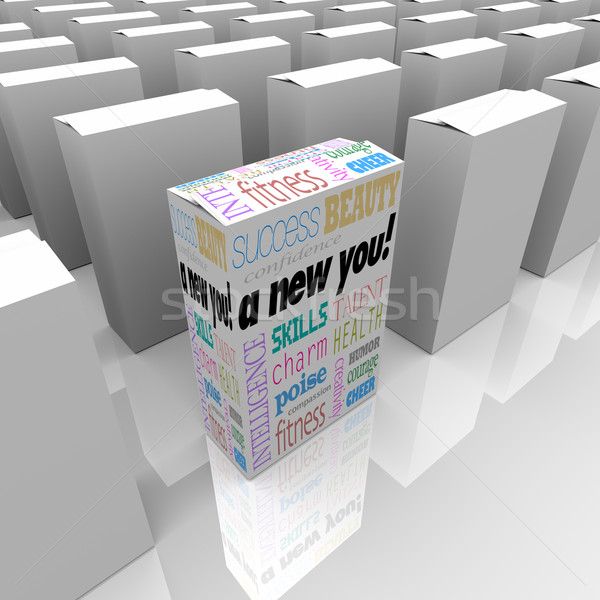A New You Self Improvement in Box for Instant Success Stock photo © iqoncept