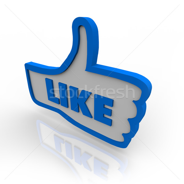 Thumb Up Symbol Icon for Like Review Stock photo © iqoncept
