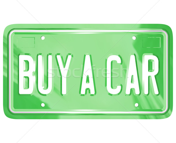 Buy a Car License Plate Auto Shopping Buying Vehicle Stock photo © iqoncept