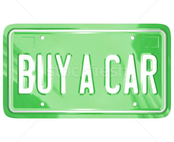 Comprar carro placa automático compras compra Foto stock © iqoncept