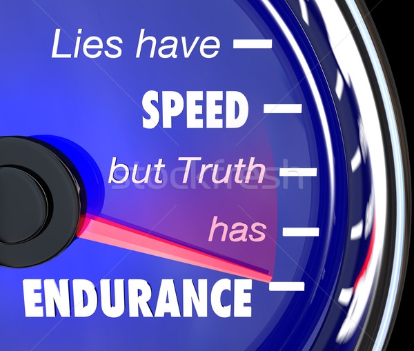 Lies Have Speed Truth Has Endurance Speedometer Stock photo © iqoncept