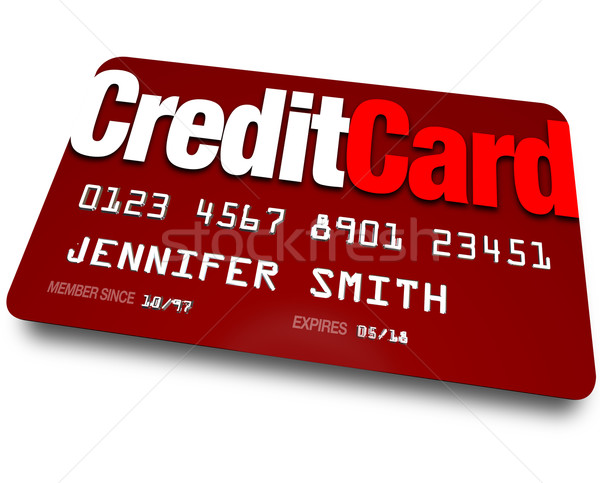 Stock photo: Credit Card Plastic Charge Shopping Debt