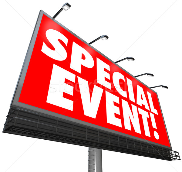 Special Event Billboard Sign Advertising Exclusive Sale Limited  Stock photo © iqoncept