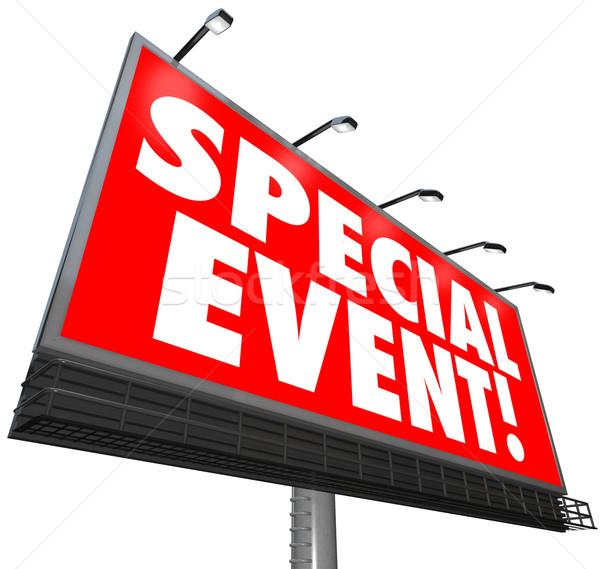 Evento speciale cartellone segno pubblicità esclusivo vendita Foto d'archivio © iqoncept
