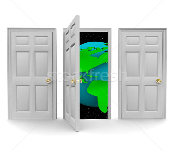Choose the Door to a World of Opportunity Stock photo © iqoncept