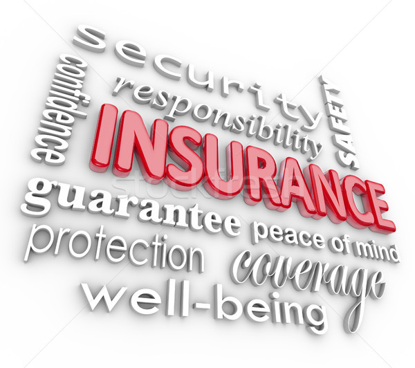 Insurance Word 3D Collage Proteciton Security from Harm Stock photo © iqoncept