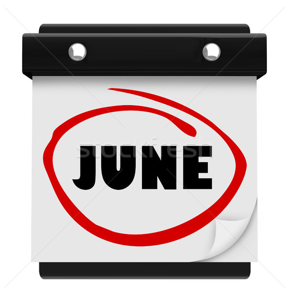 June Word Wall Calendar Change Month Schedule Stock photo © iqoncept